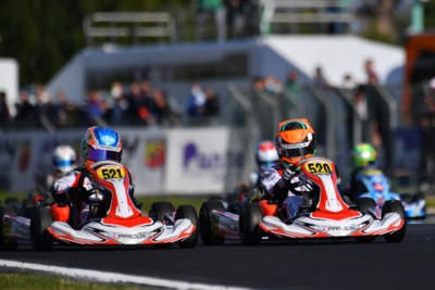 Victories of the second round of WSK Super Master Series to Lindblad (OK), Powell (OKJ) and Costoya (MINI) Gallery
