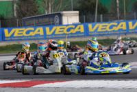 ALLA WSK CHAMPIONS CUP DI ADRIA ARDIG� (I � TONY KART-VORTEX) IN KZ2, CON SARGEANT (USA - FA ALONSO-VORTEX) E TRAVISANUTTO (I - TONY KART-VORTEX) IN OK, OCCUPANO LE PRIME POLE POSITION.