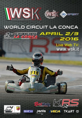 AT THE WORLD CIRCUIT LA CONCA IN MURO LECCESE (I), THE 3RD ROUND OF THE WSK SUPER MASTER SERIES, A CRUCIAL APPOINTMENT FROM 31ST MARCH TO 3RD APRIL FOR ALL THE DRIVERS AIMING AT SUCCESS IN THE 2016 SEASON.