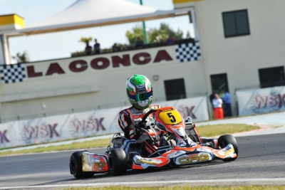 QUALIFYING IN MURO LECCESE (I) FOR THE 3RD ROUND OF THE WSK SUPER MASTER SERIES. THE POLE SITTERS ARE CAMPONESCHI (I – CRG-PARILLA KZ), SARGEANT (USA – FA-VORTEX OK) AND WATT (NL - TONY KART-VORTEX OKJ), WITH PEX (NL - CRG-VORTEX) AHEAD IN KZ2.