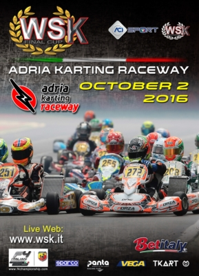 THE WSK FINAL CUP AT THE ADRIA KARTING RACEWAY IS COMING. IT WILL BE THE CLOSING EVENT OF A GREAT WSK PROMOTION SEASON WITH THE CATEGORIES KZ2 - OK - OK JUNIOR AND 60 MINI.