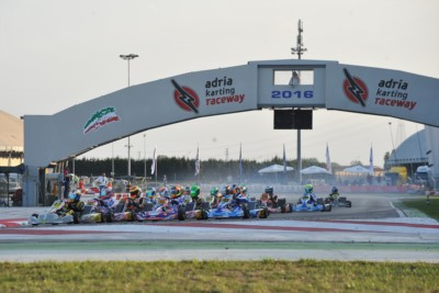 THE FIRST LEADERS OF THE WSK FINAL CUP AT THE ADRIA KARTING RACEWAY AMONG THE 176 ENTRANTS ARE IACOVACCI (I – LUXOR-LKE KZ2), NOVALAK (GB – TONY KART-VORTEX OK) AND WATT (DK – TONY KART-VORTEX OKJ). TOMORROW QUALIFYING FOR THE 60 MINI. Gallery