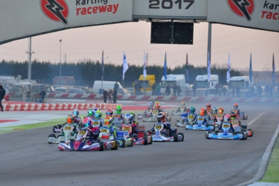 THE BATTLE FOR THE WSK CHAMPIONS CUP HAS BEGUN AT THE ADRIA KARTING RACEWAY. BEST PERFORMANCE IN QUALIFYING FOR CAMPONESCHI (I – CRG-TM KZ2), HAUGER (N - CRG-PARILLA OK), ROSSO (I – TONY KART-VORTEX OKJ) AND ALBANESE (I – RIGHETTI R.-TM 60 MINI).