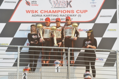 THE WSK CHAMPIONS CUP FINISHED AT THE ADRIA KARTING RACEWAY WITH THE VICTORIES OF HILTBRAND (E – TONY KART-VORTEX) IN OK, PEX (NL – CRG-TM) IN KZ2, MOROZOV (RUS – TONY KART-VORTEX) IN OK JUNIOR AND SPINA (I – CRG-TM) IN 60 MINI.