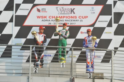 THE WSK CHAMPIONS CUP FINISHED AT THE ADRIA KARTING RACEWAY WITH THE VICTORIES OF HILTBRAND (E – TONY KART-VORTEX) IN OK, PEX (NL – CRG-TM) IN KZ2, MOROZOV (RUS – TONY KART-VORTEX) IN OK JUNIOR AND SPINA (I – CRG-TM) IN 60 MINI. Gallery