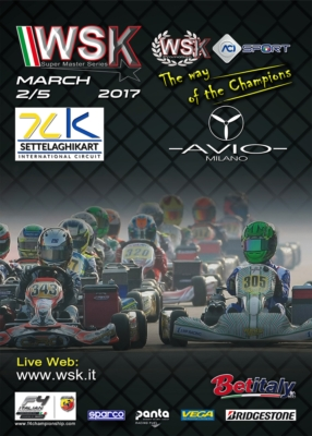 THE DRIVERS OF THE WSK SUPER MASTER SERIES ARE ARRIVING AT CASTELLETTO DI BRANDUZZO (I) FOR THE SECOND ROUND OF THE SERIES SCHEDULED FROM 2ND TO 5TH MARCH. Image
