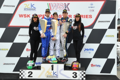 ALLA SECONDA TAPPA DELLA WSK SUPER MASTER SERIES A CASTELLETTO (PV) VITTORIA DI NOVALAK (GB – TONY KART-VORTEX) IN OK, LAMMERS (NL – SODI-TM) IN KZ2, ROSSO (I – TONY KART-VORTEX) IN OK JUNIOR E ANTONELLI (I – TONY KART-VORTEX) IN 60 MINI.