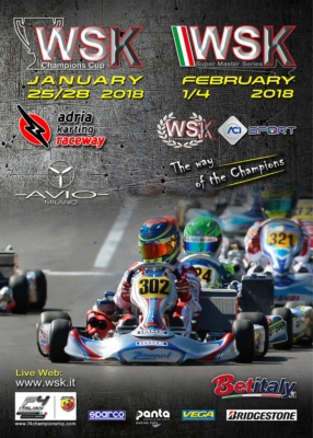 THE WSK CHAMPIONS CUP AT THE STARTING BLOCKS WITH 220 DRIVERS FROM 38 COUNTRIES IN THE PROVISIONAL ENTRY LISTS.