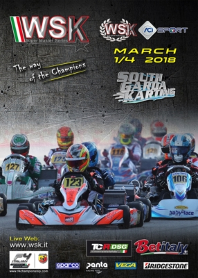 MORE THAN 300 DRIVERS ENTERED IN THE SECOND ROUND OF THE WSK SUPER MASTER SERIES. AN INTERNATIONAL KARTING WEEKEND FULL OF BATTLES AHEAD AT SOUTH GARDA KARTING IN LONATO (I) FROM MARCH 1ST TO 4TH.