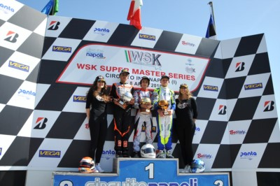 THE KINGS OF WSK SUPER MASTER SERIES 2018 CROWNED IN SARNO: MARCO ARDIGÒ (I – TONY KART-VORTEX) IN KZ2, HANNES JANKER (D – KR-PARILLA) IN OK, GABRIELE MINÌ (PAROLIN-PARILLA) IN OKJ AND MARTINIUS STENSHORNE (N - PAROLIN-TM) IN 60MINI. Gallery