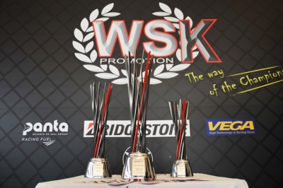 WSK OPEN CUP READY TO AWARD ITS TROPHIES THAT FEATURE A DESIGNED INSPIRED TO F.1 AND WILL BE PRESENTED TOMORROW AT SOUTH GARDA KARTING IN LONATO.
