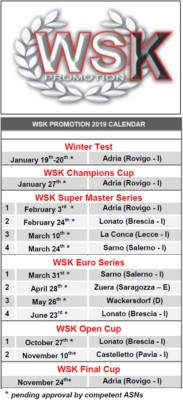 KARTING SEASON 2019 IS BEING DEVISED: UNVEILED THE NEW WSK PROMOTION CALENDAR. Gallery