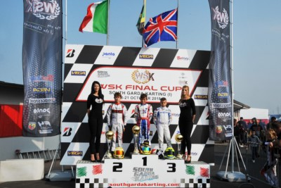 THE SOUTH GARDA KARTING OF LONATO (BS) CELEBRATES THE WINNERS OF THE WSK FINAL CUP OPENER: POWELL (JAM – ENERGY-TM 60 MINI), BARNARD (GB – KR-PARILLA OKJ), TRAVISANUTTO (I – KR-PARILLA OK) AND LAMMERS (NL – SODI-TM KZ2). Gallery