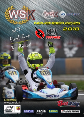 GRAN FINALE ALL'ADRIA KARTING RACEWAY DELLA WSK FINAL CUP: APPUNTAMENTO FINALE CON IL TRAGUARDO DI CLASSIFICA, CHE NEL WEEKEND DAL 22 AL 25 NOVEMBRE INCORONERÀ I VINCITORI DELLE CATEGORIE OK, KZ2, OK JUNIOR, E 60 MINI.