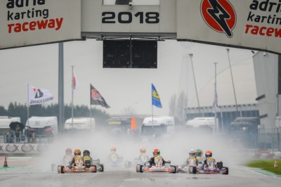 QUICKEST TIME IN QUALIFYING FOR TIBEKIN (RUS – DR-TM 60 MINI), WHARTON (AUS – FA-VORTEX OKJ), RENAUDIN (F – SODI-TM KZ2) AND ROSSO (I – PAROLIN-TM OK) AT THE ADRIA KARTING RACEWAY. THE FINAL CHALLENGE FOR THE WSK FINAL CUP IS ON WITH 230 DRIVERS IN ADRIA Gallery