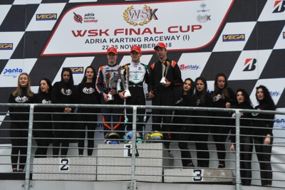 THE WSK FINAL CUP COMPLETED THE 13TH WSK SEASON IN ADRIA (RO) WITH THE WINNERS TRAVISANUTTO (I – KR-PARILLA OK), BARNARD (GB – KR-PARILLA OKJ), RENAUDIN (F – SODI-TM KZ2) AND POWELL (JAM – ENERGY-TM 60 MINI)