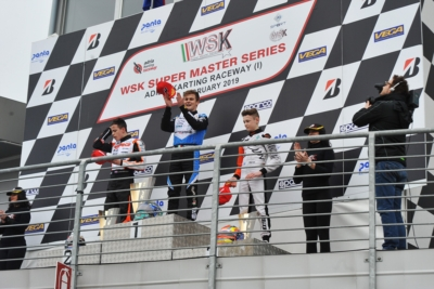 THE FIRST ROUND OF WSK SUPER MASTER SERIES ENDED WITH THE VICTORIES GOING TO TRAVISANUTTO (I – KR-IAME OK), CAMARA (BR – BIRELART-TM OKJ) AND AL DHAERI (ARE - PAROLIN-TM 60MINI) AT THE ADRIA KARTING RACEWAY.