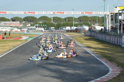 AIMING TO THE VICTORY AT THE WORLD CIRCUIT LA CONCA: PATTERSON (GB – KR-IAME OK), LINDBLAD (GB – EXPRIT-TM OKJ) AND IRFAN (GB – PAROLIN-TM 60 MINI) TO THE FORE TODAY IN QUALIFYING OF WSK SUPER MASTER SERIES. HEATS WILL CONTINUE TOMORROW.