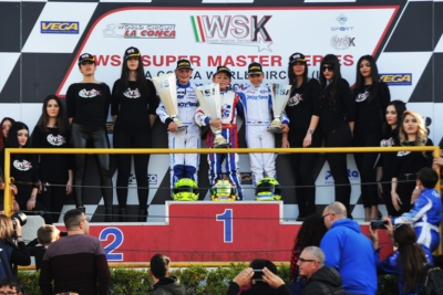 VICTORY TO MINÌ (I – PAROLIN-TM OK), ANTONELLI (I – KR-IAME OKJ) AND POWELL (JA – ENERGY-TM 60 MINI) IN THE THIRD ROUND OF WSK SUPER MASTER SERIES IN MURO LECCESE (I).