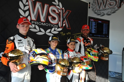 WSK SUPER MASTER SERIES 2019 TO LAMMERS (NL – SODI-TM KZ2), PATTERSON (GB – KR-IAME OK), ANTONELLI (I – KR-IAME OKJ) AND AL DHAHERI (ARE – PAROLIN-TM 60 MINI).