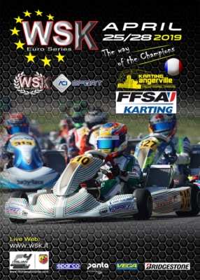 THE SECOND ROUND OF WSK EURO SERIES IN ANGERVILLE (F). THE CHALLENGE AMONG THE LEADERS OF CATEGORIES OK, OK JUNIOR AND 60 MINI WILL BE ON FROM APRIL 25TH TO 28TH.
