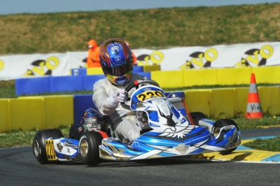 TRAVISANUTTO (I - KR-IAME OK), TEN BRINKE (NL – FA KART-VORTEX OKJ) AND BERGSTROM (I – PAROLIN-TM 60MINI) TO THE FORE IN QUALIFYING AT THE 2ND ROUND WSK EURO SERIES IN ANGERVILLE (F).