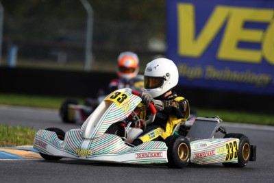 THE RACE FOR THE VICTORY OF WSK OPEN CUP KICKED OFF TODAY WITH QUALIFYING PRACTICE IN CASTELLETTO DI BRANDUZZO (I). VAN'T HOFF (NL – EXPRIT-TM OK), BERGMAN (S – TONY KART-VORTEX OKJ) AND IGLESIAS (F – IPK-TM 60 MINI) CAME TO THE FORE SO FAR. Gallery