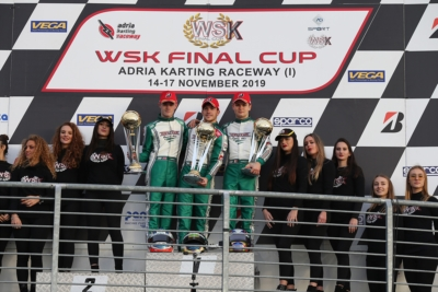 SEASON FINALE WITH THE WSK FINAL CUP: THE WINNERS ARE LUNDBERG (S – LUXOR-TM KZ2), HILTBRAND  (E – TONY KART-VORTEX OK), ANTONELLI (I – KR-IAME OKJ) AND MATVEEV (RUS – ENERGY-TM 60MINI).
