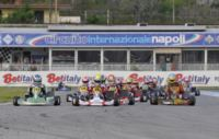 DE CONTO (I � BIREL-TM) WINS THE KZ2 FINAL 1 AT THE WSK MASTER SERIES IN SARNO (ITALY). NORRIS (GB � FA-VORTEX KFJ), LORANDI (I � TONY-VORTEX KFJ), BOCCOLACCI (F - ENERGY-TM KF) AND MARSEGLIA (I � TOP-PARILLA 60 MINI) GRAB THE POLE IN THE PRE-FINALS.