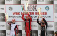 VERSTAPPEN (NL - CRG-TM KZ2), BOCCOLACCI (F � ENERGY-TM KF), LORANDI (I - TONY KART-PARILLA KF JUNIOR) AND MAINI (IND - TONY KART-LKE 60 MINI) LEAD THE CURRENT WSK MASTER SERIES STANDINGS.