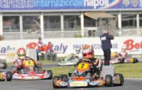 FINAL SPRINT IN THE WSK EURO SERIES FOR THE LEADERS VERSTAPPEN (NL � CRG-TM KZ1), ZANCHETTA (I - MARANELLO-TM KZ2),  BOCCOLACCI (F - ENERGY-TM KF) AND LORANDI (I - TONY KART-PARILLA KFJ).
