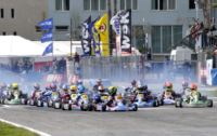 THE THIRD ROUND OF THE WSK MASTER SERIES FROM 2ND TO 5TH MAY IN PRECENICCO (ITALY), WITH THE LEADERS VERSTAPPEN (NL � CRG-TM KZ2), BOCCOLACCI (F � ENERGY-TM KF), LORANDI (I � TONY KART-VORTEX KFJ) AND MAINI (IND � TONY KART-LKE 60MINI).