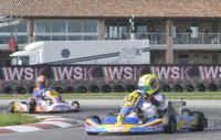 THIRD ROUND OF THE WSK MASTER SERIES ON THE RACETRACK OF  PRECENICCO. FREE PRACTICE OVER TODAY. TOMORROW QUALIFYING AND HEATS.