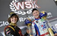 IN SUPERPOLE NELLA WSK MASTER SERIES AL CIRCUITO DI PRECENICCO (UD) SALGONO BOCCOLACCI (ENERGY-TM KF) E THOMPSON (ENERGY-TM KFJ). POLE POSITION PER VERSTAPPEN (CRG-TM KZ2) E MARSEGLIA (TOP KART-PARILLA 60 MINI).