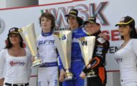 THE WSK MASTER SERIES IN PRECENICCO (UDINE, ITALY) FINISHES AND VICTORIES GO TO VERSTAPPEN (NL � CRG-TM KZ2), BOCCOLACCI (F � ENERGY-TM KFJ), LORANDI (I � TONY KART-PARILLA KFJ) AND MARTINEZ (E � HERO-LKE 60 MINI).