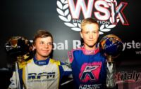 IN GENK (B) THE SUPERPOLES OF THE WSK EURO SERIES ARE ACHIEVED BY NIELSEN (DK - KOSMIC-VORTEX KF) AND KARI (SF � FA KART-VORTEX KFJ).  ON SUNDAY 2ND JUNE LIVE STREAMING ON WWW.WSK.IT, AND ON FRIDAY 7TH JUNE THE WSK TV MAGAZINE OF RAISPORT.