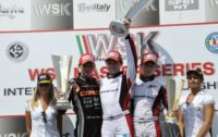 THE WINNERS OF THE WSK MASTER SERIES FINALS IN CASTELLETTO (ITALY): HANLEY (ART GP-TM KZ2), CORBERI (