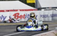 POLE POSITION AT THE WSK CHAMPIONS CUP IN LA CONCA FOR FEWTRELL (GB � FA KART-VORTEX), ILOTT (GB � ZANARDI-PARILLA) AND CAMPONESCHI (I - TONY KART-VORTEX). ABRUSCI (I - TONY KART-LKE) IS THE FASTEST  IN THE FREE PRACTICE 60 MINI.