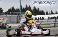 WSK CHAMPIONS CUP IS APPROACHING THE FINISHING LINE. TODAY POLESITTERS: JANKER (D � ZANARDI-PARILLA KF), HANLEY (GB � ART GP-TM KZ2) AND TICKTUM (GB � ZANARDI-PARILLA KF2).