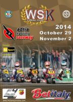 WSK PROMOTION CELEBRATES THE 2014 SEASON WITH ITS GREAT EVENT WSK FINAL CUP. THE RACE INAUGURATES THE BRAND NEW CIRCUIT OF ADRIA (ROVIGO) ON THE WEEKEND OF 2ND NOVEMBER. RAI SPORT 2 WILL BROADCAST THE CHALLENGE AMONG ALL THE BIG NAMES OF KART RACING. ENTR