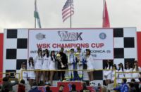 THE WSK CHAMPIONS CUP ENDS IN MURO LECCESE (I). THE WINNERS ARE NICKLAS NIELSEN (DK � TONY KART-VORTEX KF), LOGAN SARGEANT (USA � FA ALONSO-VORTEX KFJ) AND DENNIS HAUGER (N � CRG-LKE-VEGA 60 MINI)