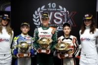 THE WSK CHAMPIONS CUP, FIRST EVENT OF THE 2015 WSK SEASON, HAS JUST AWARDED THE WINNERS NIELSEN (DK� TONY KART-VORTEX KF), SARGEANT (USA � FA ALONSO-VORTEX KFJ) AND HAUGER (N� CRG-LKE 60MINI)