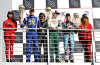 THE WSK GOLD CUP CELEBRATES ITS WINNERS AT THE ADRIA KARTING RACEWAY: CAMPONESCHI (I � TONY KART-VORTEX KZ2), BASZ (PL - KOSMIC-VORTEX KF), LUNDGAARD (DK - TONY KART-VORTEX KFJ) AND HAUGER (N � CRG-TM 60MINI).