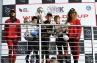 THE WSK GOLD CUP CELEBRATES ITS WINNERS AT THE ADRIA KARTING RACEWAY: CAMPONESCHI (I – TONY KART-VORTEX KZ2), BASZ (PL - KOSMIC-VORTEX KF), LUNDGAARD (DK - TONY KART-VORTEX KFJ) AND HAUGER (N – CRG-TM 60MINI). Gallery