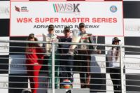 THE WSK SUPER MASTER SERIES OF ADRIA (ITA) AWARDS THE WINNERS OF THE FIRST ROUND: ARDIG� (I - TONY KART-VORTEX KZ2), BASZ (PL - KOSMIC-VORTEX KF), NOVALAK (GB � TONY KART-VORTEX KFJ) AND MICHELOTTO (I � ENERGY-IAME 60MINI).