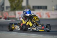 QUALIFYING AT THE ADRIA KARTING RACEWAY FOR THE WSK FINAL CUP: THE FASTEST ARE ARDIG� (I � TONY KART-VORTEX KZ2), BASZ (PL � KOSMIC-VORTEX KF), BLOMQVIST (S � TONY KART-VORTEX KFJ) AND CAGLIONI (I � EVOKART-TM 60MINI).