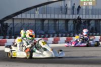 AT THE WSK FINAL CUP AT THE ADRIA KARTING RACEWAY THE POLE SITTERS ARE ARDIG� (I � TONY KART-VORTEX KZ2), NIELSEN (DK � TONY KART-VORTEX KF) AND BLOMQVIST (S � TONY KART-VORTEX KFJ). THE BEST IN 60MINI ARE MARSEGLIA AND MICHELOTTO.
