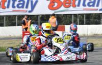 FIRST WINNERS IN WSK EURO SERIES: VERSTAPPEN (NL � CRG-TM KZ1), BARNICOAT (GB � ART GP-TM KF) ZANCHETTA (I � MARANELLO-TM KZ2), NORRIS (GB FA KART-VORTEX KFJ) AND MARTINEZ (E � HERO-LKE 60MINI). FROM RAI SPORT 2 THE WSK TV MAGAZINE ON FRIDAY 8TH.